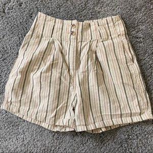UO Striped Trapeze Shorts